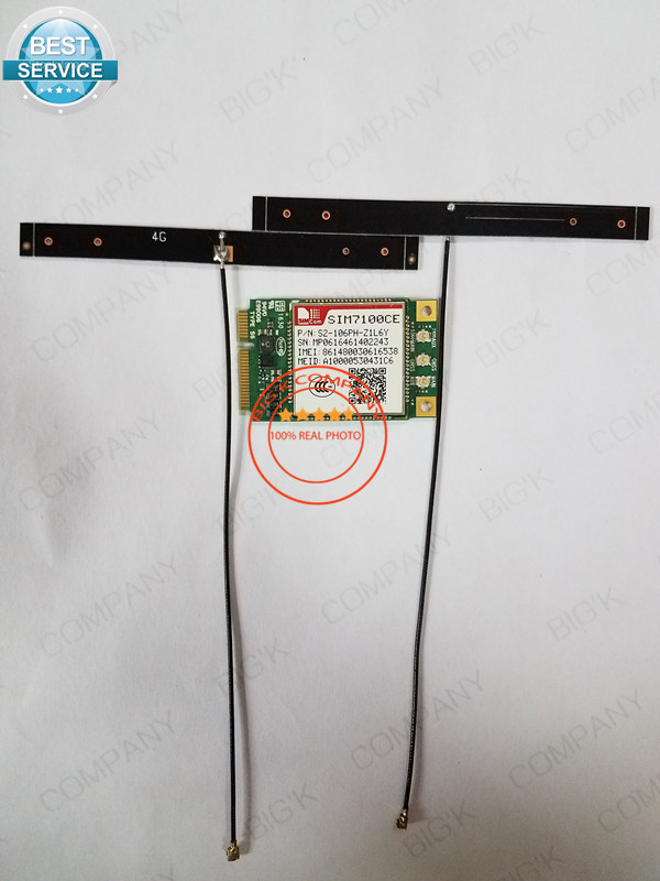 SIM7100CE/SIM7100C Mini Pcie +2pcs 4G antenna Simcom 100% New 4G TDD-LTE/FDD-LTE/WCDMA Embedded quad-band module