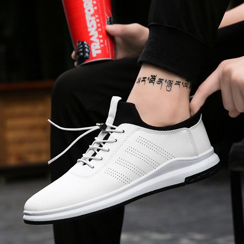 Nouveau Simple automne chaussures décontractées pour homme respirant mode décontracté chaussures plates baskets confortables