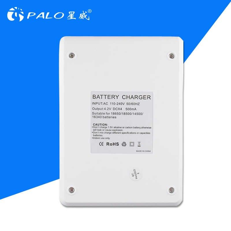 Новый PALO m705 умное универсальное ЖК-дисплей Li-Ion 14500 16340 18500 18650 Батарея Зарядное устройство с 4 шт. 18650 аккумуляторные батареи