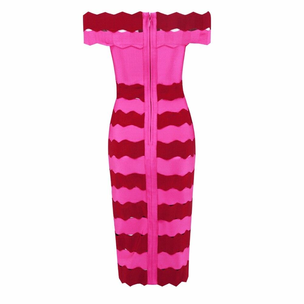 2018 new arrivals summer women dress  wholesale pink & wine red off shoulder cross front bandage dress party  dress Dress + suit-in Dress Suits from Women's Clothing    3
