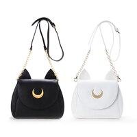 Cute Black White Japanese Anime Cosplay Sailor Moon Bag Harajuku Cute Women Bag PU Black White