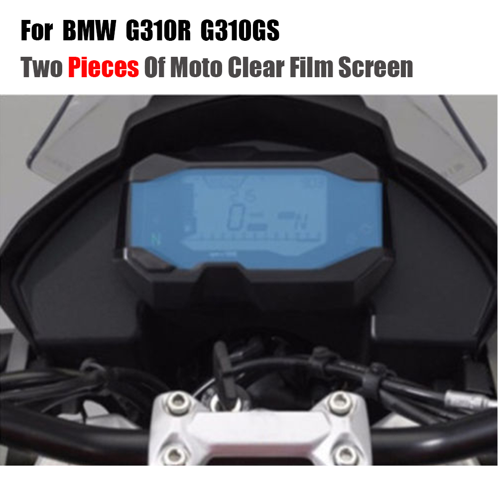 JMCRider Two Pieces For BMW <font><b>G310R</b></font> G310GS G310 GS R 2017 2018 Speedometer Speedo Screen Cluster Scratch Protection Film image