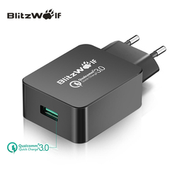 BlitzWolf Travel <font><b>Wall</b></font> Charger Quick Charge 3.0 <font><b>USB</b></font> Charger Adapter EU Plug 18W Universal Mobile Phone Charger For <font><b>Iphone</b></font> 7 6 6s