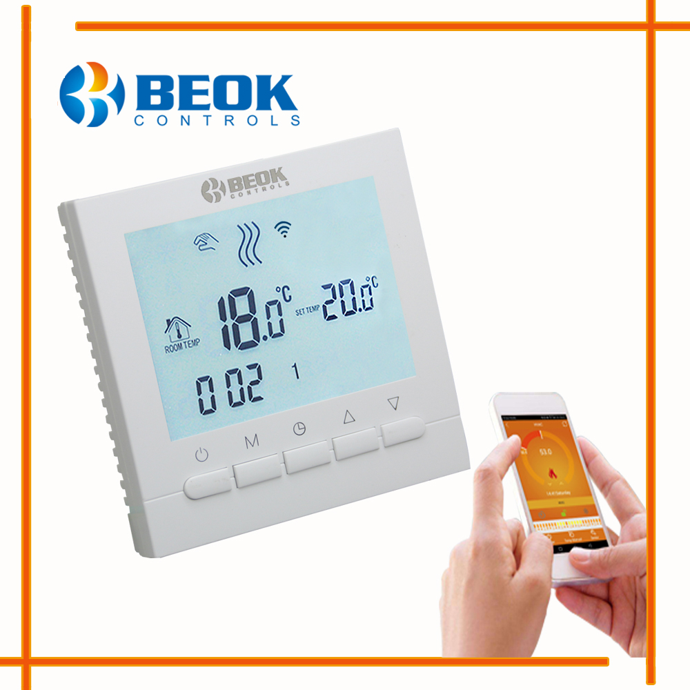 Image 4 - Programmable Room Heating Boiler WIFI Thermostat Digital Temperature Controls Regulator Wifi Control Thermostat for Gas Boilers-in Temperature Instruments from Tools