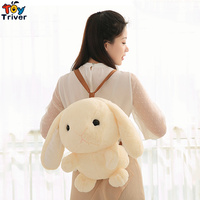 Kawaii Plush Rabbit Blanket Toy Stuffed Animal Doll Bunny School Bag Backpack Baby Kids Children Mama