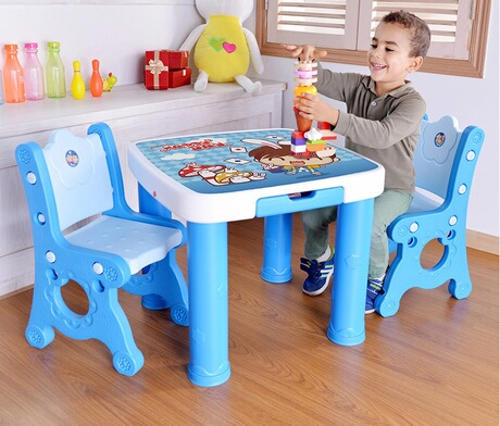 Children Furniture Sets one desk+two chairs sets plastic kids Furniture sets kids chair and study table sets minimalist quality