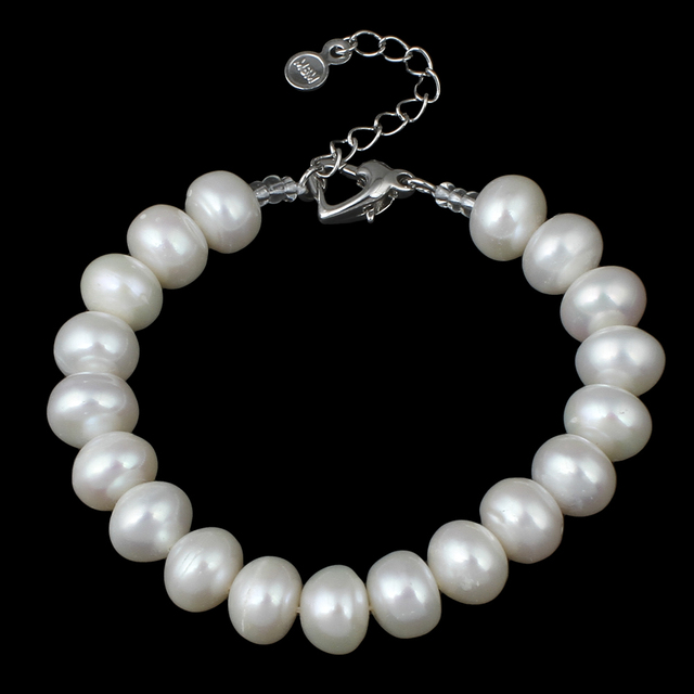 2017 new fashion natural real pearl bracelet for women top quality 9-10mm freshwater pearl bracelet 7 inch beaded pearl bracelet