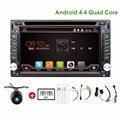 Quad Core 2din android 4.4 2din магнитолы Dvd-плеер Автомобиля Gps-навигация В тире рулевого колеса