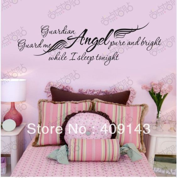 Girls removable vinyl wall art quotes stickers diy bedroom for Decoration quotes