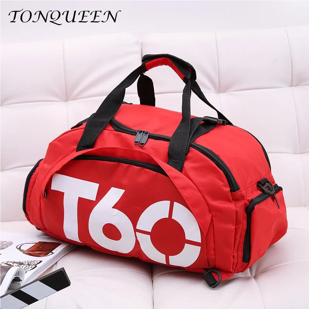 Waterproof Gym Sports Bag Men Women Fitness Bag Training Backpacks With Strips Pouch Rucksack Travel Bags Outdoor T60 WX103