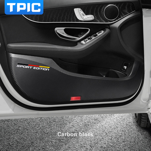 Image 5 - TPIC Car Door Anti kick Pad Stickers Ultra thin Leather PVC Door Protection Side Edge Film For Mercedes w204 w205 w213 C E Class