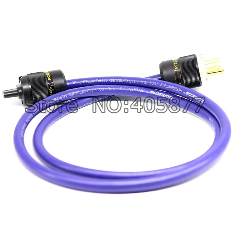 XLO Reference 2 US Power Cord Cable With Figure 8 IEC Female Plug