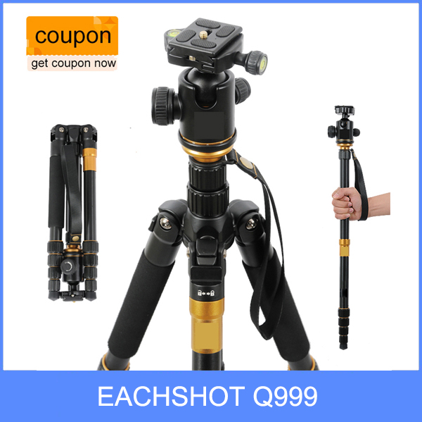 Fotopal EACHSHOT Q999 Q 999 Photographic Portable Tripod To Monopod Ball Head For DSLR Camera Fold