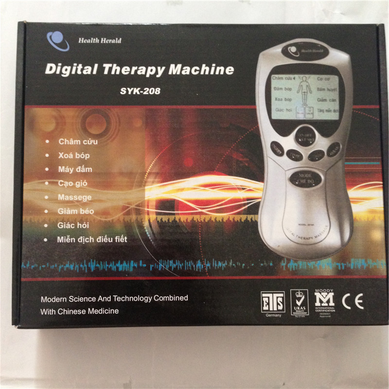 Vietnamese 4 in 1 Full Body Tens Unit Machine Digital Slimming Massager Electric Pulse Therapy Massage Accupuncture Muscle Relax dual output ems digital massager 8 pads pulse slimming muscle relax massage electric slim full body massager