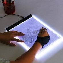 A5 Formato Tre Livello Dimmable Ha Condotto La Luce Pad Tablet Strumenti Accessori per la Pittura Diamante di Protezione Degli Occhi per il Diamante Ricamo