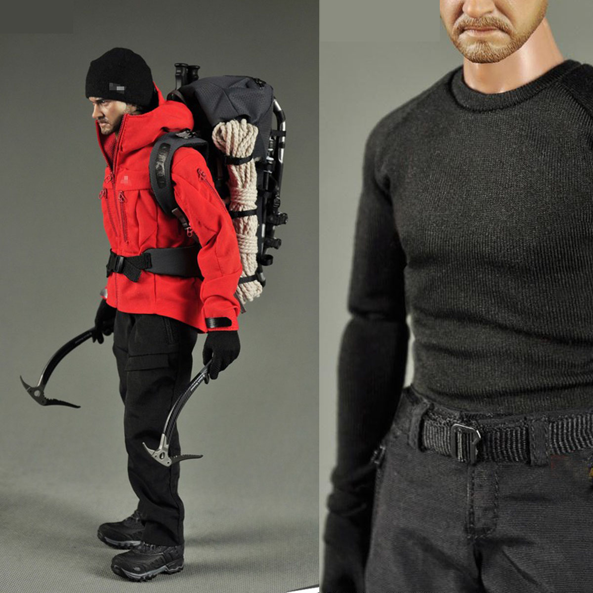 Mnotht Toy 1/6 F-023 Outdoor Gear Clothing Suits + Head Set for 12 Male Action Figure Body Accessories Action Toy Figures L30