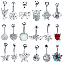 1PC Stainless Steel Gem Navel Piercings Belly Button Rings Navel Piercing Ombligo Piercing Belly Button Sexy Body Jewelry цена и фото