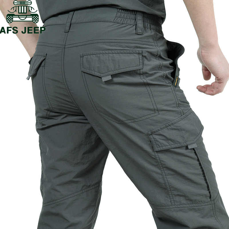 Szybkie suche spodnie na co dzień mężczyźni lato armia wojskowy oddychająca, lekka, wodoodporna, taktyczne spodnie męskie spodnie Cargo spodnie męskie