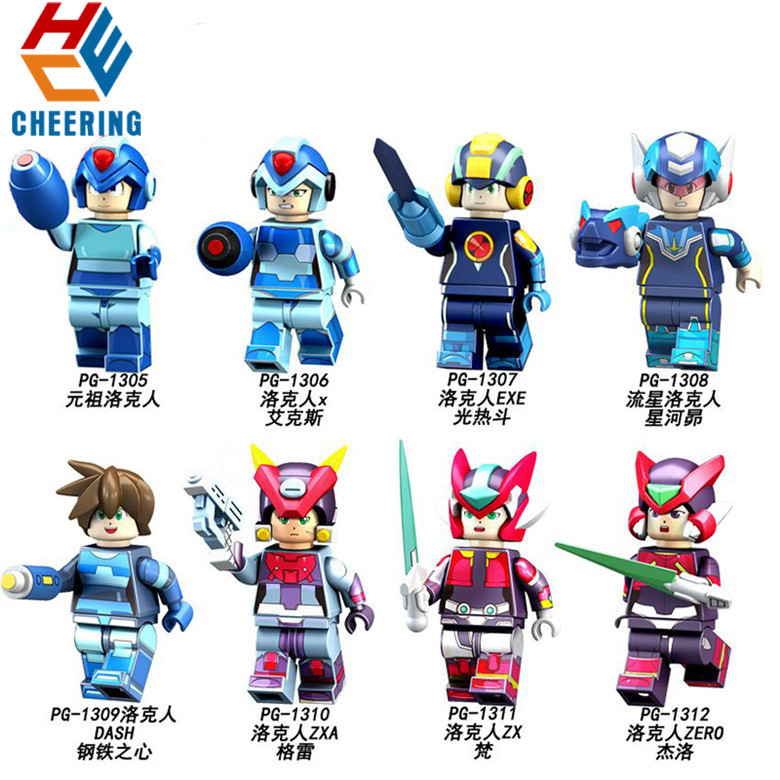 Single Sale Building Blocks Series Yuanzu Rockman Ax Light Hot Bucket Meteor Collection Bricks Figures For Children Toys PG8137