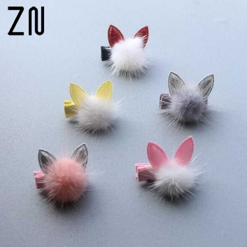 ZN Girl Boutique Girls Bow Tie Rabbit Cat Ear Hair Bow Alligator Clips Barrettes 1 piece Hairpin