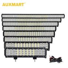 Ofertas especiales Auxmart 12 20 23 28 31 50 pulgadas triple fila led light bar Combo 3 fila Offroad LED trabajo luz 12 V 24 V SUV ATV 4x4 Remolques camión