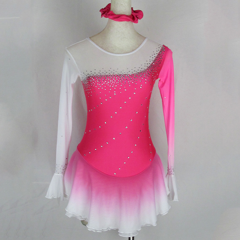 Customized Costume Ice Skating Figure Skating Dress Gymnastics Adult Child Girl Ice Dancing Ice Skating Clothing зимняя шина yokohama ice guard ig50 215 65 r16 98q н ш