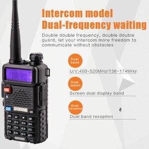 """Image 5 - מקצועי מכשיר קשר 10 ק""""מ UHF VHF 5W UV 5R uv עם פנס VOX FM CB משדר 2 דרך רדיו communicator baofeng uv5r"""