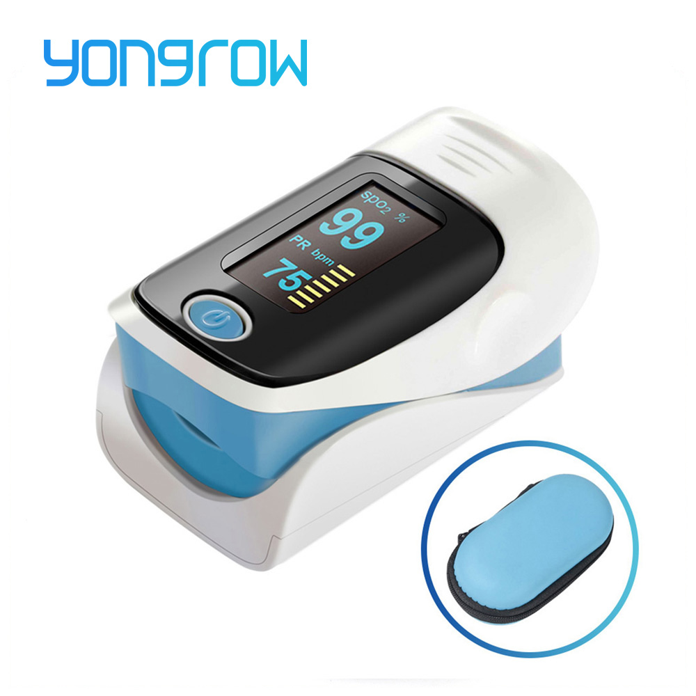 Yongrow Medical Household Digital Fingertip pulse Oximeter Blood Oxygen Saturation Meter Jari SPO2 PR Monitor CE Portable
