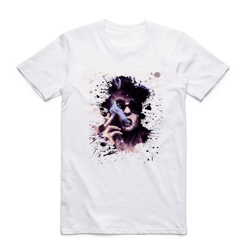Moda Kişi Döyüş Klubu Ağ T-shirt O-Boyun Qısa Qollu Yay Klassik - Kişi geyimi - Fotoqrafiya 2