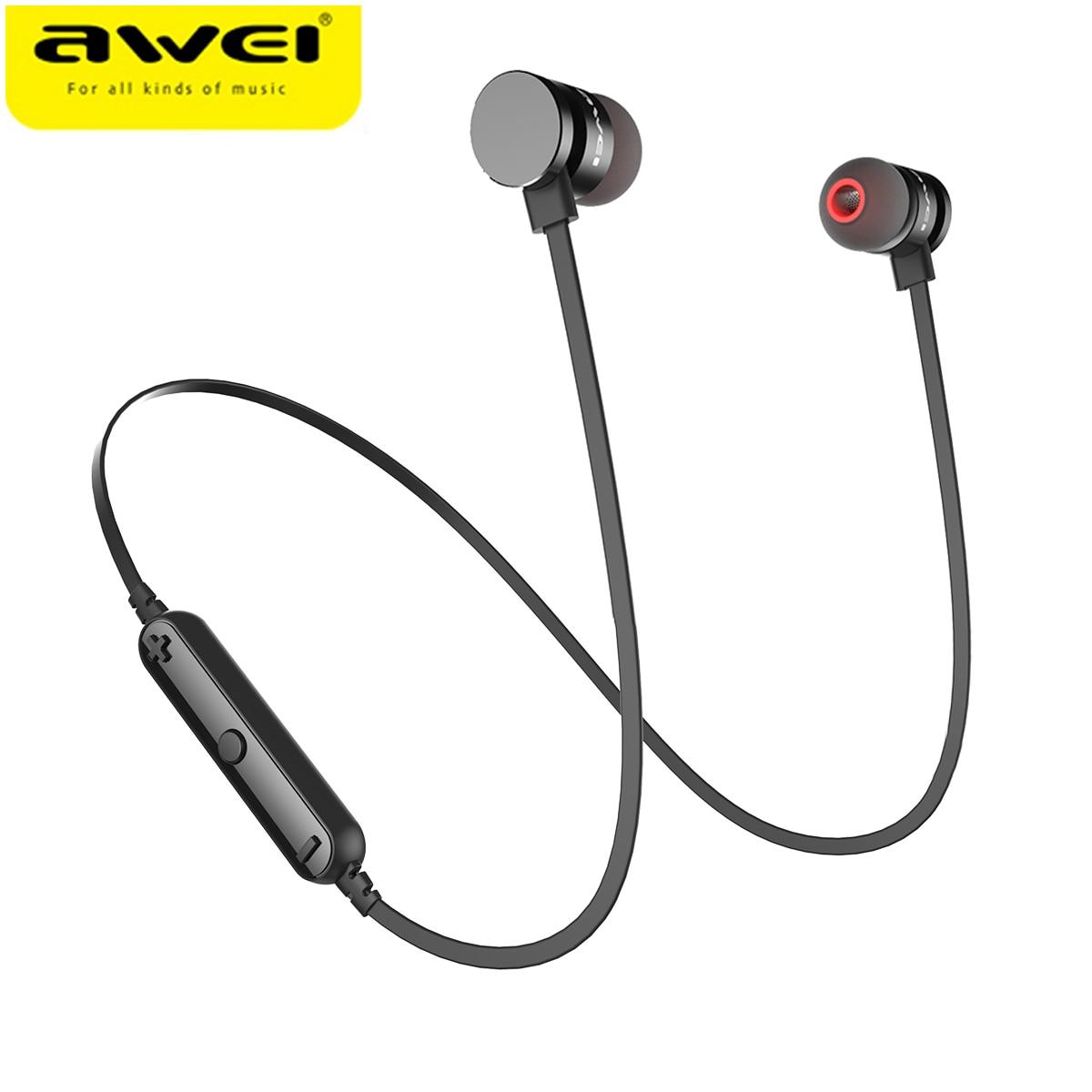 Più nuovo AWEI T11 Cuffia Senza Fili Auricolare Bluetooth Auricolare Fone de ouvido Cuffie Bluetooth Sport Musica V4.2 Casque