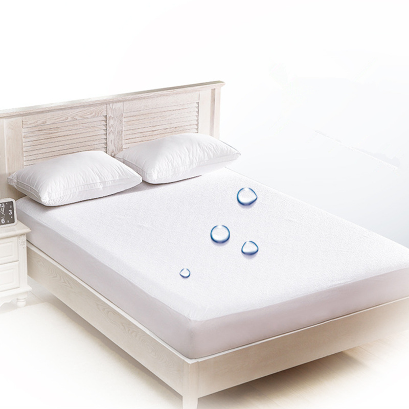 Anti-mite bed protector waterproof mattress cover bedspread for double bed terry fabric mattress topper protection pad
