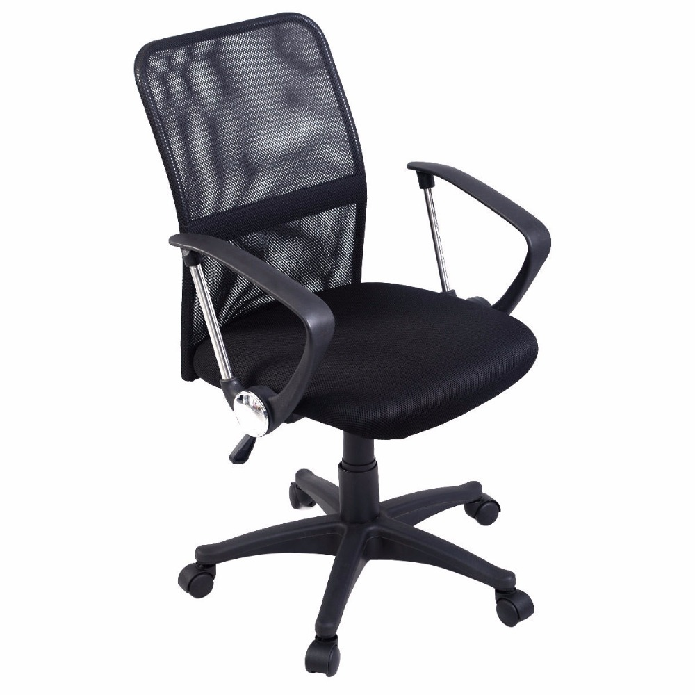 Goplus Modern Ergonomic Mesh Mid-Back Executive Computer Desk Task Office Chair HW51421 недорого