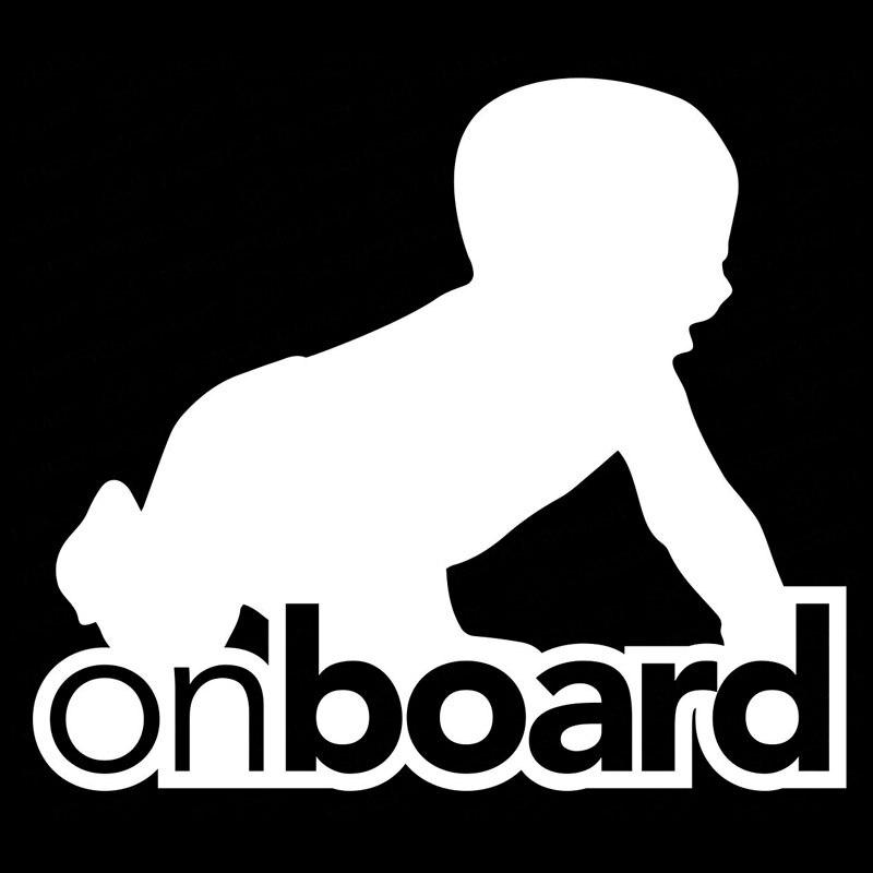 YJZT 12.7CM*11CM Baby On Board Creeping Baby Creative Vinyl Car Sticker Decals Black/Silver C10-00132