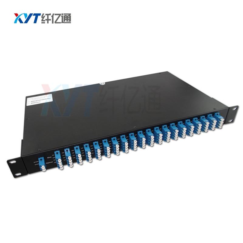 DWDM 1U Rackmout 40 channel DWDM AWG C21 to C60 DWDM MUX DEMUX module dual fiberDWDM 1U Rackmout 40 channel DWDM AWG C21 to C60 DWDM MUX DEMUX module dual fiber