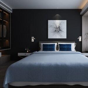Image 5 - Apextech kısılabilir led duvar lambası yatak odası başucu okuma ışıkları topuzu Dimmer anahtarı gömme duvara monte gece lambası otel için