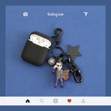 Cute Cartoon Case for Apple Airpods  Accessories Bluetooth Earphone Protective Charging Box Cool Doll decoration
