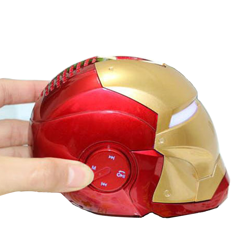 Iron Man Wireless Bluetooth Speaker bass Cartoon Gift Mini Shape Portable with TF FM for iphone computer xiaomi Toys Loudspeaker
