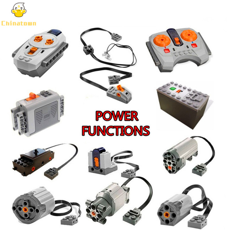 Technic MOC Functions Servo Motor IR RX TX Battery Set Box Building Blocks Bricks Kids Toys for children Compatible Legoings Car