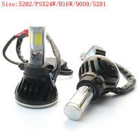H16 Car LED Headlight Bulbs Conversion Kit 80W 8000LM (4Kx2) 5202 (PSX24W/H16W/9009/5201) 6000K Daylight with Rainproof Driver