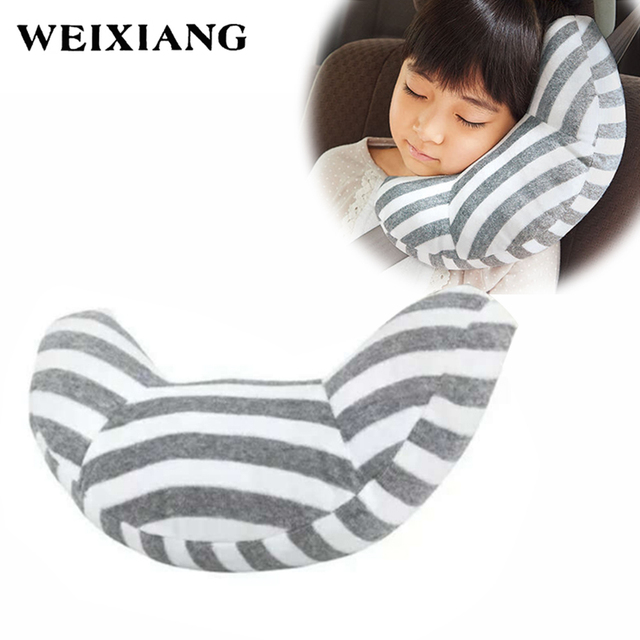 Childrens Neck Headrest Seat Belt Shoulder Pads Removable Child Car Sleep Pillow Seatbelt Cushion Pad Head