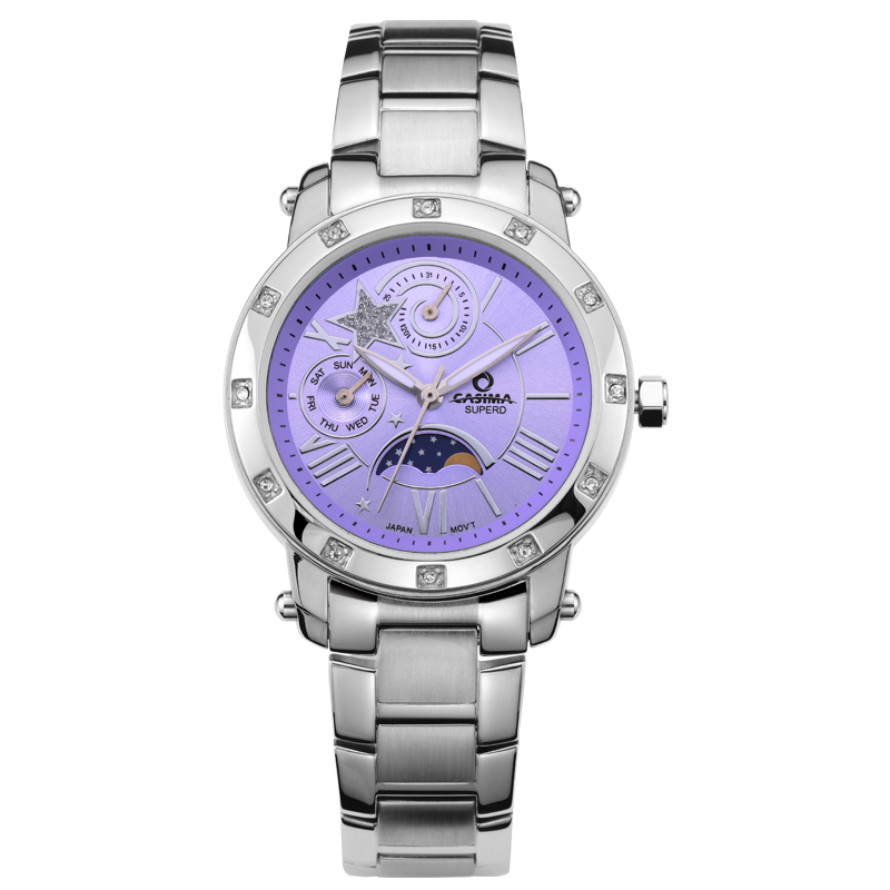 CASIMA Fashion Brand Ladies Watches Casual Outdoor Quartz Stainless Steel Watch Women Waterproof 50 M Relogio Feminino chenxi fashion luxury quartz watch women dress stainless steel strap waterproof business casual ladies watches relogio feminino