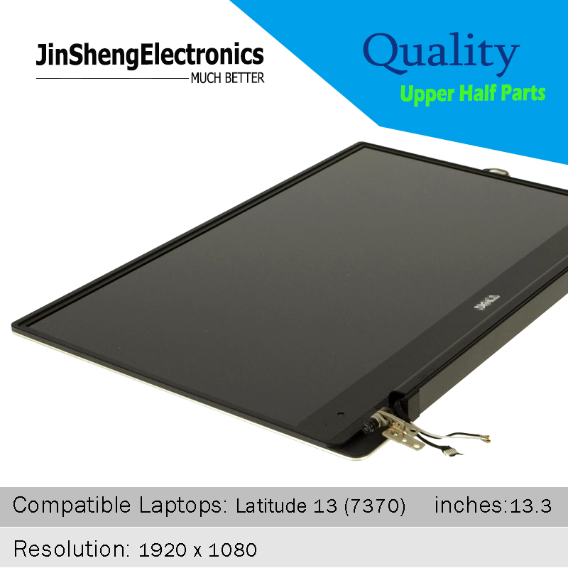 Original New Full 100% tested LCD Screen For Dell Latitude 13- 7370 FHD lcd Display Upper Half Parts Assmebly