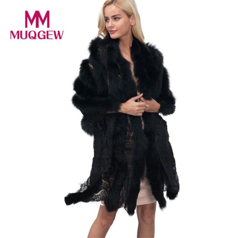 MUQGEW Beautiful cheap New Ladies Womens Lace Warm Faux Fur Coat ...