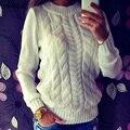 2016 Новый Женщины Свитер Чистый Цвет Осенние Куртки Мода Весна Вязаный Пуловер Теплый Трикотажные Кашемир