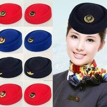 Авиакомпания капитан шляпа отель этикет женские шапки группа представление шерстяные шляпы женская форма купол snare барабан кепки
