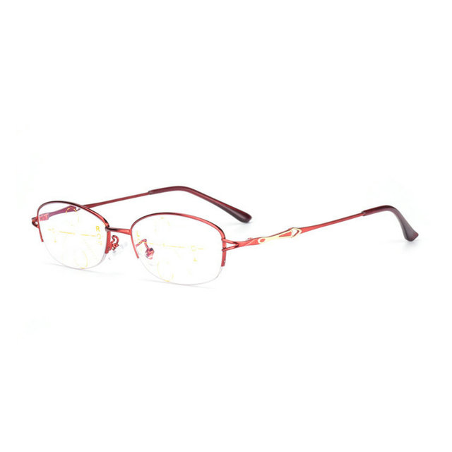 0c3d077838 MINCL Fashion Oval Progressive Multifocal Reading Glasses Womens Red Frame  Adjustable Vision Reading Glasses With Case-gyw