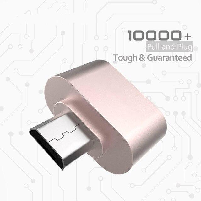 Divertidos mini micro usb otg cable adaptador convertidor 2.0 para móviles teléf
