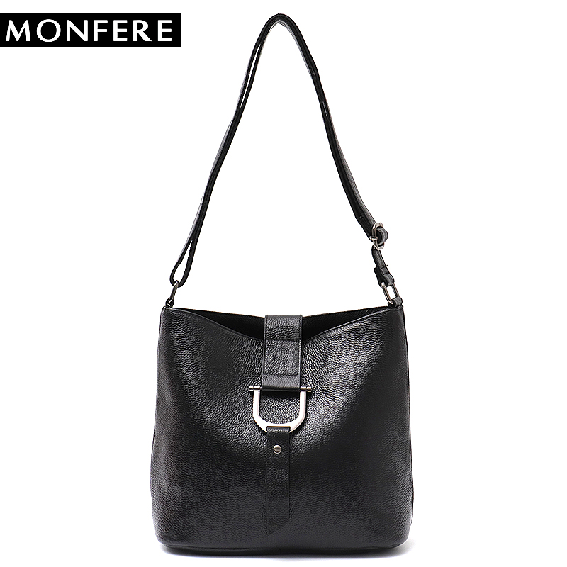 MONFERE Brand Fashion Leather Handbag Women Flap Small Shoulder&Cross body Bags for Girls High Quality Luxury Cowhide Hobo Bags