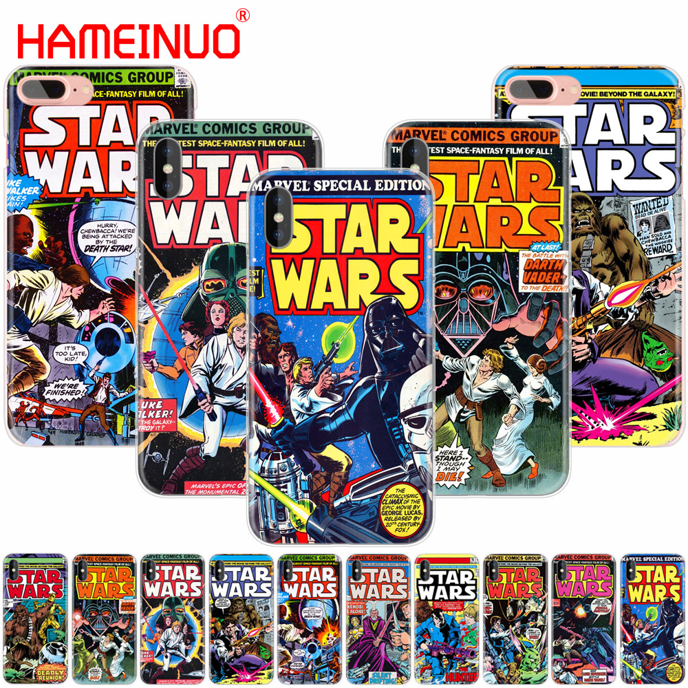 HAMEINUO star wars marvel comics cell phone Cover case for iphone 6 4 4s 5 5s SE 5c 6 6s 7 8 X plus image