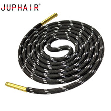 JUPHAIR Striped Wave Point Round Shoelaces with Gold Metal Tip Outdoor Sports Hiking Shoe Laces Rope Strings Sneakers Boot Laces цены онлайн